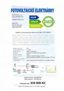 Elektrárna s nabíjením baterií – ELMAT VIP HYBRID